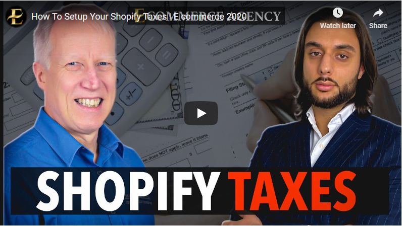 Shopify Taxes Video
